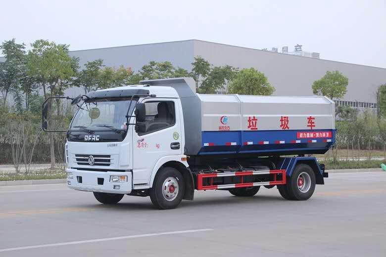 东风多利卡挂桶垃圾车/10方CLW5080ZZZD5
